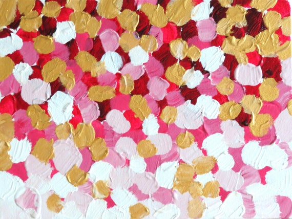 Falling Rich Petals Chanel Inspired Painting on Canvas