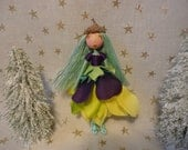 "My name is ""Woodland,""  Vermont fairy doll, Woodlandolls, Woodland fairy, ooak doll, bendy dolls,  Waldorf doll, imaginative play doll"