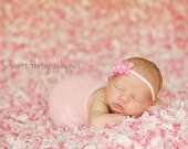 Newborn Ruched Pearl Headband Photography Prop