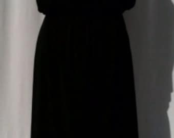 Baylis & Knight Black Grecian Maxi Dress Elegant Long Formal Gown Relaxed 70's