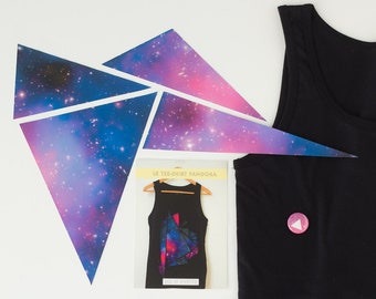 DIY project kit - Constellation triangle tee-shirt - Size L