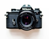 Nikon EM 35mm film camera with 50mm f1.8 manual lens