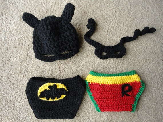 Super Hero Hat, Mask and Diaper Covers newborn photography prop