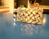 Custom listing for Danielle Pigeon: black and silver Duck tape belt with Celtic knot buckle