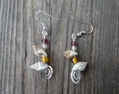 Little shells & beads, beach nights earrings