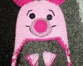 PIGLET Hat with Ear Flaps