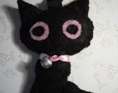 Reserved for Anna Black Cat Bag Charm Custom Order