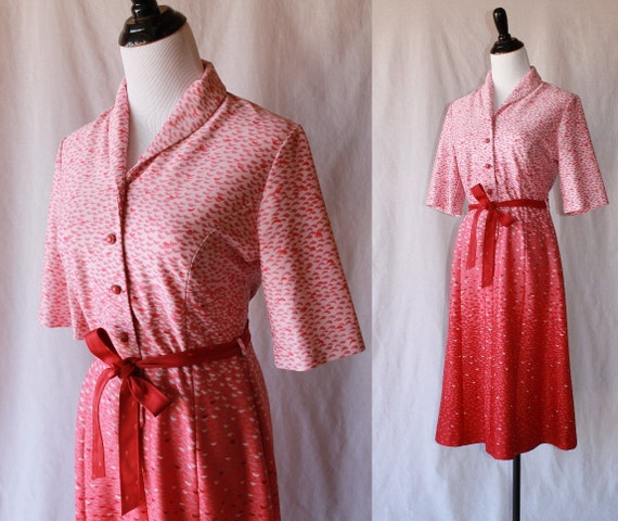 Pink and Red Vintage Dress