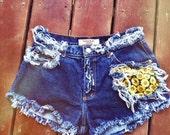 Sunflower High Waist Denim Shorts