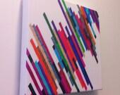 "Canvas Art Print - ""Crazy Lines B"" Graph Drawing, original art, art on canvas"