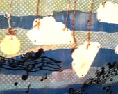 Raining Melody Original acrylic mixed media painting 16x20