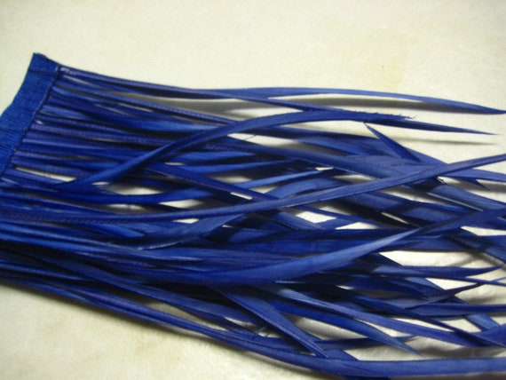 Royal Blue Goose Biot Feathers, 10cm For Craft Projects