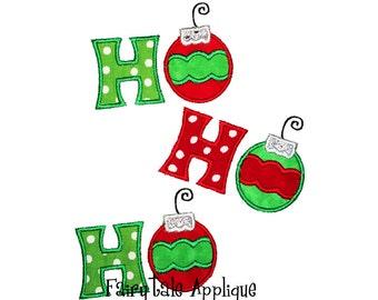 Digital Machine Embroidery Design -  Ho Ho Ho Christmas Applique