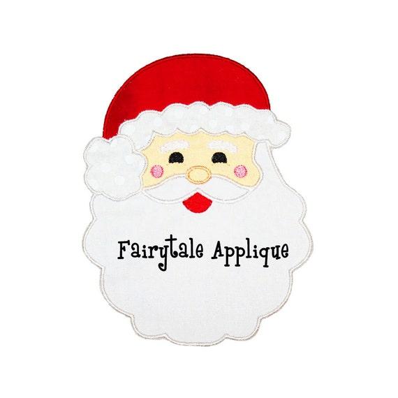 Digital machine embroidery design santa applique