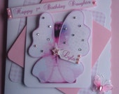 Personalised 'Fairy Wings' 1st Birthday Daughter Card - (Any relation/age)