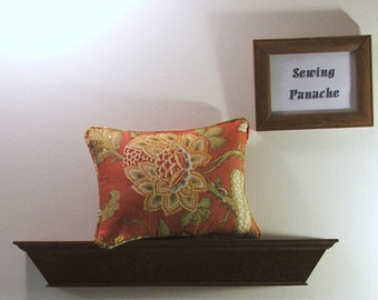 Dusty red  floral pillow cover