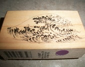 Ocean Wave rubber stamp for scrapbooking, card making etc