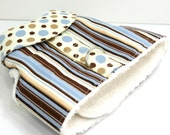 Dog Harness Vest, Soft Comfortable Dog Harness, Dog Vest, Brown and Blue Stripes and Spots Dog Harness