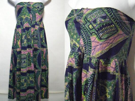 Vintage 60's Strapless Summer Dress Sz.Small