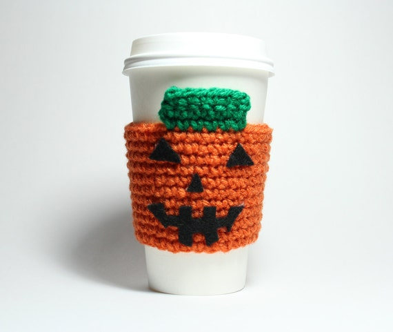 Pumpkin Coffee Cozy Coffee Sleeve Halloween Can Holder Jack