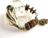 Bracelet, chain, coconut, pendant-cage, cord, charm RESERVATION