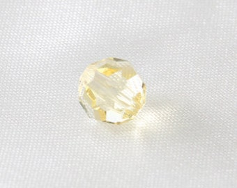 4 pcs - 8mm Article 5000 Faceted Round Swarovski Crystal Beads Jonquil Yellow