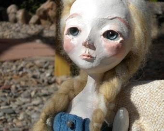 """Adelaide... a 13"""" OOAK art doll"""
