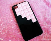 FREE SHIPPING black case with pink studs for iphone 4/4s