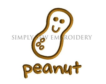 Peanut Applique -- Machine Embroidery Design No. 024