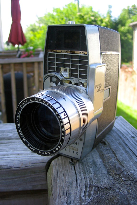 Vintage Bell & Howell Director Series 414 Zoomatic Movie Camera