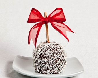 Dark Chocolate Coconut Gourmet Chocolate Caramel Apple