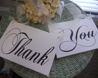 Reversible Mr and Mrs/Thank You wedding signs