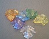 90 pieces Transparent Lucite Acrylic Leaves - assorted colors