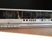 Nice Realisitc brushed aluminum look single well cassette deck- beat meters VU's