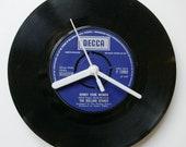 "The Rolling Stones 'Honky Tonk Women' - Retro Redesigned 7"" Vinyl Wall Clock 1960s"