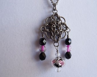 Star Crossed Lover Chainmaille Necklace
