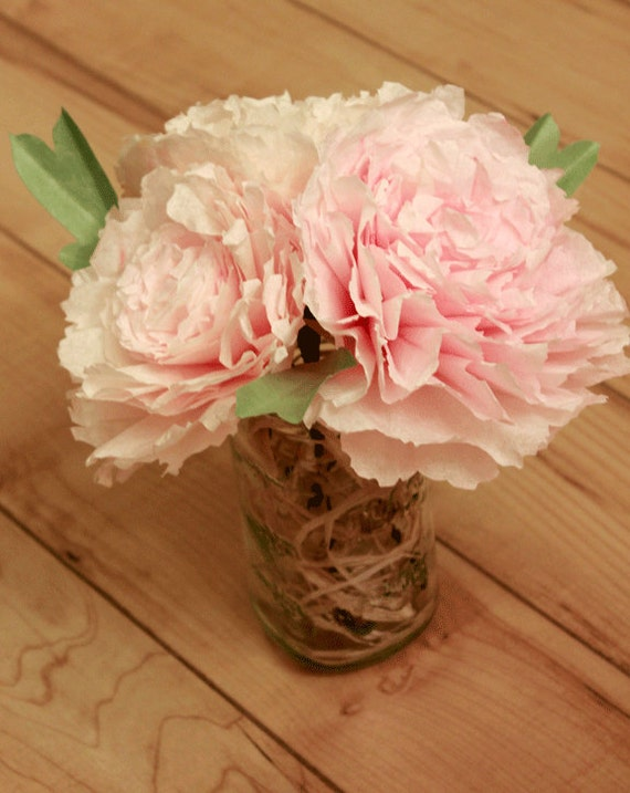 Peony poppy centerpiece shabby chic wedding