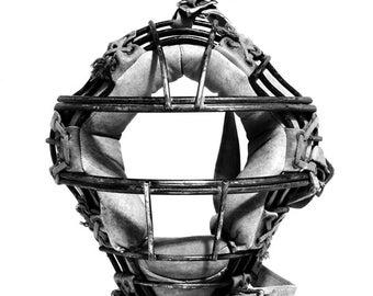 Vintage Baseball Catchers Mask Photograph