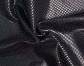 One Yard Small Grids Fabric,0.4mm Black Faux Suede For Clothing Craft,Clothing Fabric,Snake Skin Clothes Fabric