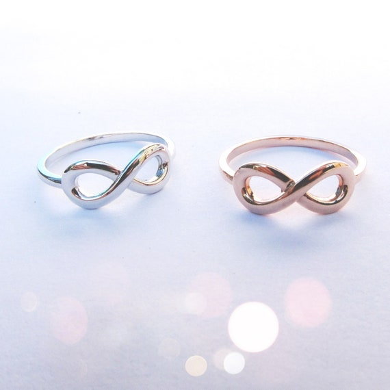 14k Gold Infinity Ring (white, yellow, or rose gold)