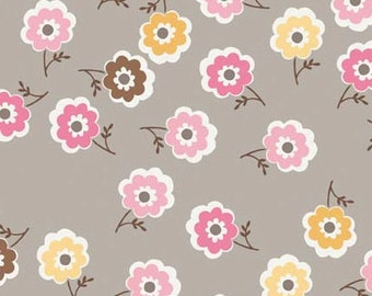 Riley Blake Daisy Cottage Gray, C2756, floral, cotton