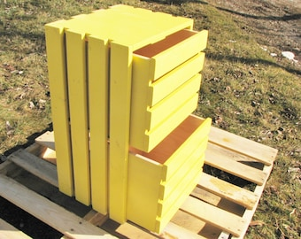 Wood Drawer, Rustic, Yellow, Any Color you want