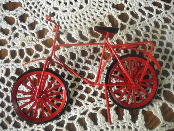 The LITTLE RED BICYCLE Doll House Terrarium or Fairy Garden