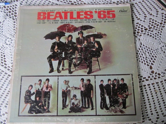 Beatles 65 Vinyl Record Album Cover Rock And By
