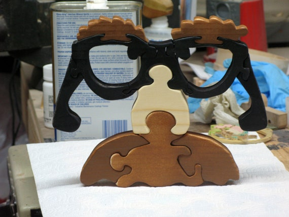 Groucho Glasses Wood Stand Up Puzzle