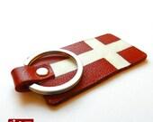Denmark's Flag Keychain