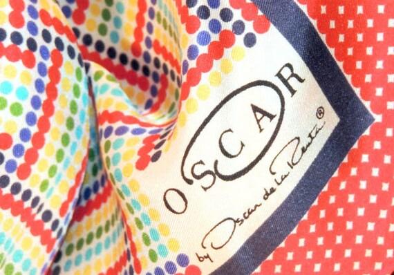 Vintage SCARF by Oscar de la Renta