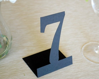 Simple Self Standing Table Numbers Set of 10- Large Size