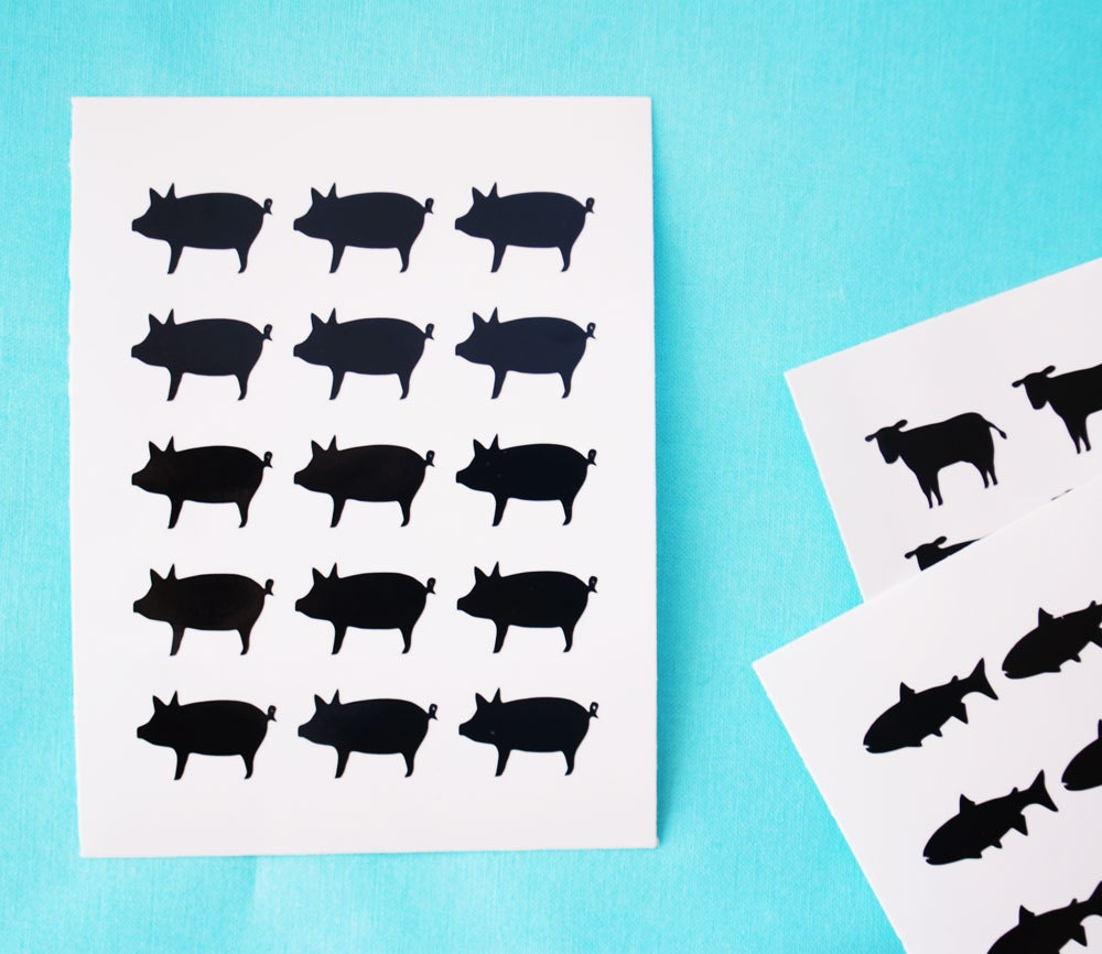 meal choice stickers 15 stickers per sheet