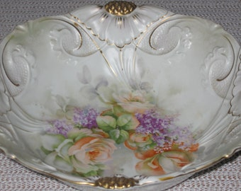 Beautiful Hand-Painted Fruit Bowl